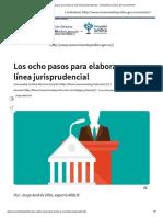 Pasos para la construcción de linea jurisprudencial
