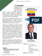 preidente de colombia
