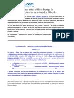 Modelo Para Efectuar Aviso Publico de Pago de Prestaciones Sociales de Un Trabajador Fallecido