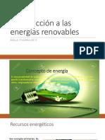 Presentación 1 Introducción a Las Energías Renovables