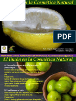 el limón en la cosmetica