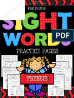 Free Sight Words Worksheets Kindergarten