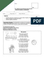 Evaluación Unidad 2 Lenguaje Segundo Básico a-b...