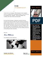 Avionics Acronym List From Vance Hilderman
