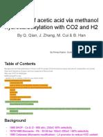 Advanced catalysis