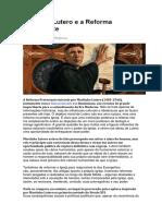 Martinho Lutero e a Reforma