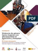 Violencia de genero contra las mujeres con discapacidad en Arequipa y Ayaucho