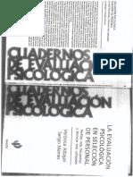 ALBAJARI. La evaluación psicológica en selección de personal. CAP. 1