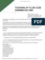 Lei Constitucional 13 - 1945 -- Poderes Constituintes Do Parlamento
