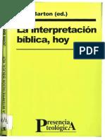 Barton John La Interpretacion Biblica Hoy Afr Presencia Teologica 113