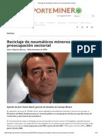 Reciclaje de Neumáticos Mineros_ Una Preocupación Sectorial