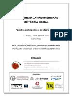 Programa III Congreso Latinoamericano de Teoría Social