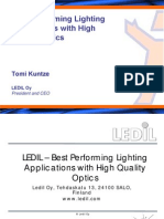 LEDIL Presentation at OSRAM Opto Semiconductors LED Light for you System Design Workshop.