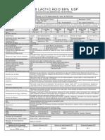 Acido Lactico 88 Datasheet