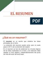 3.2 EL resumen