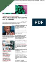 Swine Flu Vac Cancer
