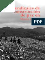 Aprendizajes de construcción de paz en Montes de María