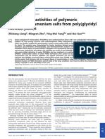 Quarternary ammonium antimicrobial polymers