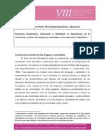 Derechos Linguisticos Educacion e Identi