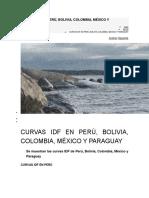 Curvas Idf en Perú Colombia y Chile