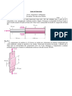 Mecânica Dos Sólidos - Lista de Exercícios