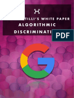 "Pete Santilli's ""White Paper"" - ALGORITHMIC DISCRIMINATION"