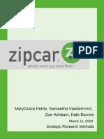 zipcar survey report
