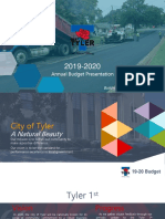 2019-20 Budget Presentation to Council 08 14 2019