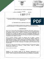 Decreto 1431 de 2016 - Adres Planta de Personal