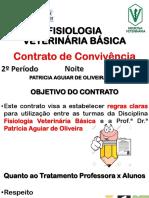 Contrato de Convivência - Fisiologia Veterinária Básica - Noite