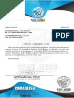 Carta Convite-presidente Linhares