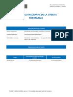 Catalogo Nacional de la Oferta Formativa