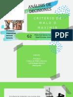 Criterio de Wald o Maximin