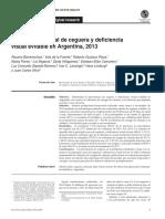 Encuesta Nacional de Ceguera y Deficiencia Visual Evitable en Argentina, 2013