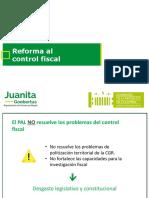 Reforma al régimen de control fiscal