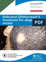Dithranol (Dithocream) Treatment for Alopecia Areata Mar 19