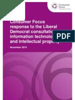 Consumer Focus Response to Lib Dem Consultation on IT and IP