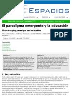 El paradigma emergente en educacion