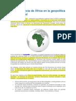 La Importancia de África en La Geopolítica Internacional