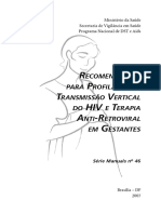 Recomendacoes Profilaxia Hiv Antiretroviral Gestantes Brasil 2007