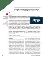 Efectos sobre la salud de los riesgos alimentarios en 195 países, 1990–2017