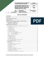 Especificaciones Técnicas Equipos Encapsulados Con SF6