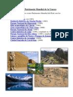 Lista de Patrimonio Mundial de La Unesco