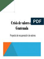 Codigo de valores guatemala