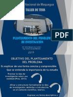 TALLER de TESIS Planteamiento Del Problema