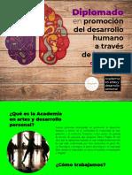 Diplomado en promoción del desarrollo humano a través del arte. RutasConSentidos