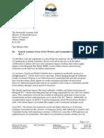 Minister Donaldson Letter