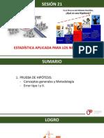 P_Sem11_ses21_Prueba de Hipotesis Conceptos Generales