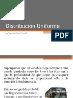 Distribución Uniforme