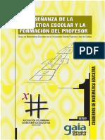 1. La Enseñanza de La Aritmetica Escolar y La Formacion Del Profesor